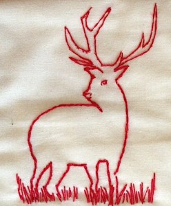 Redwork Stag